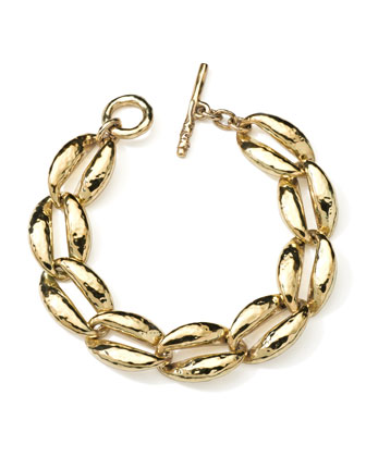 18K Gold Glamazon Coffee Bean-Link Bracelet