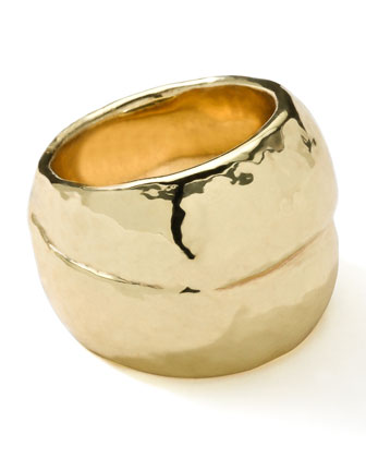 18K Gold Glamazon Hammered Ring