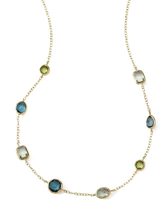 18k Gold Rock Candy Mini Gelato Station Necklace in Tartan, 16-18