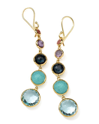 18k Gold Rock Candy Lollitini Earrings in Multi