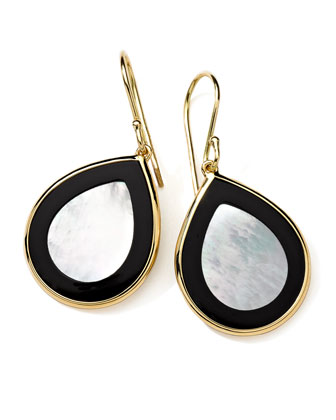18K Gold Polished Rock Candy Mini Teardrop Earrings in Jazz