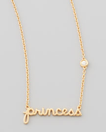 Princess Bezel-Diamond Pendant Necklace