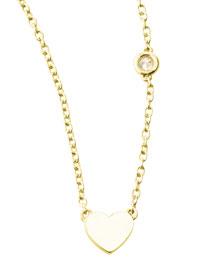 Heart Bezel-Diamond Pendant Necklace
