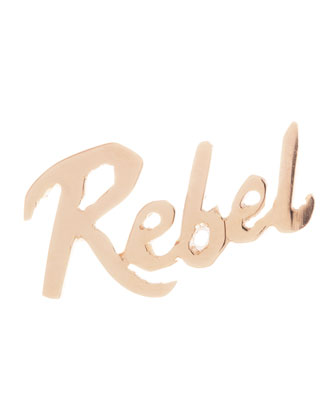 Rebel Mini 14k Gold Single Earring