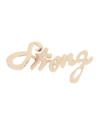 Strong Mini 14k Gold Single Earring