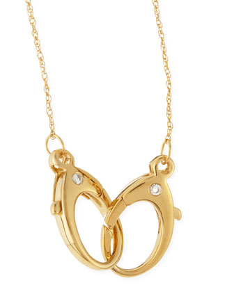 14k Gold Vermeil Large-Double-Clasp Necklace