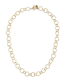 18k Yellow Gold Circle Link Necklace, 18