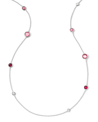 Sterling Silver Wonderland Graduated Lollipop Station Necklace in Rio, 37