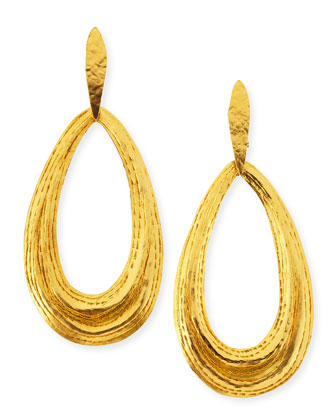 Salome Teardrop Clip-On Earrings