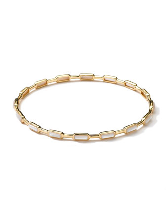18k Gold Rock Candy Gelato 16-Stone Bangle, Mother-of-Pearl