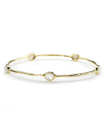18K Gold Rock Candy Lollipop 5-Stone Bangle in Mother-of-Pearl