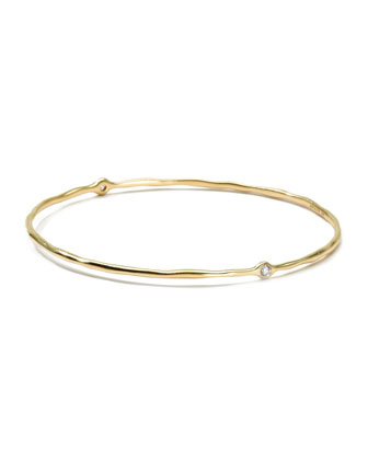 18K Gold 2 Diamond Bangle (Size 1)