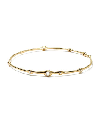 18K Gold 9-Diamond Bangle (0.5ctw)