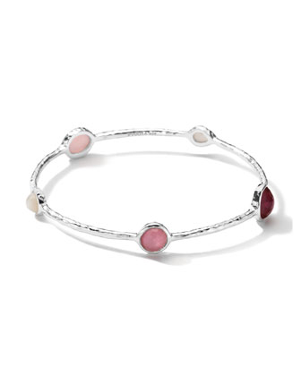 Sterling Silver Wonderland 5-Stone Bangle in Rio