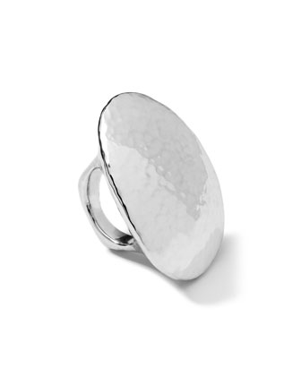 Sterling Silver Hammered Dome Ring