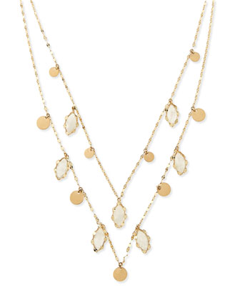 Two-Strand Dream Gypsy 14k Gold & Moonstone Necklace
