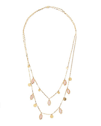 14k Dream Pink Opal Necklace