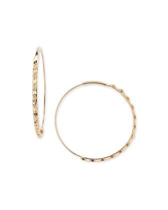 14k Small Glam Magic Hoop Earrings