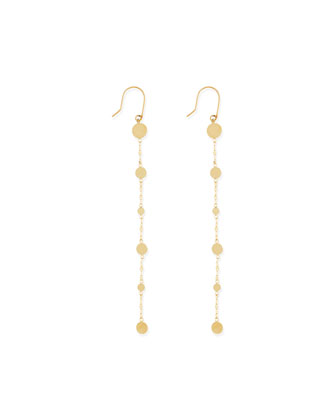 14k Long Shimmer Earrings