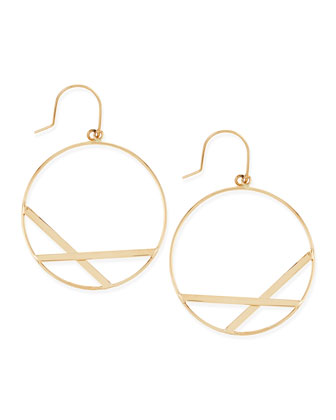 14k Small Affinity Hoop Drop Earrings