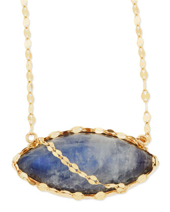 14k Mesmerize Marquise Onyx/Moonstone Necklace