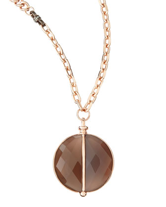 14k Gold Plate & Agate Necklace, 34