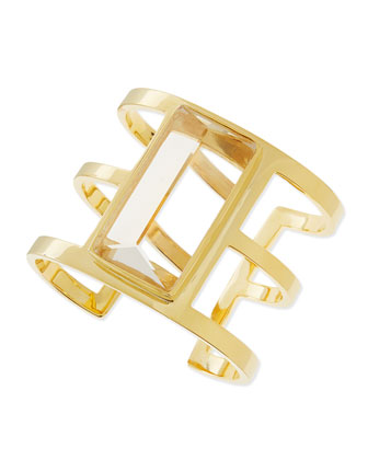 14k Gold-Plated 3-Row Cuff
