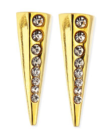 Gold-Plated Pointy Stud Earrings