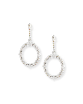 New World Champagne Diamond Oval Earrings