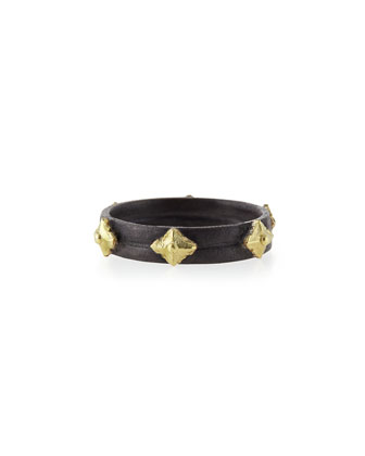 Midnight & 18k Cravelli Plain Stackable Band Ring