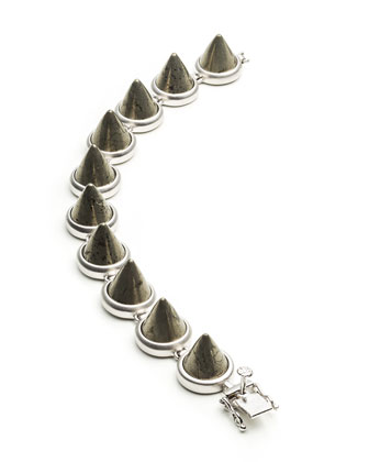 Pyrite Cone Bracelet