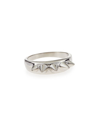 Silvertone Studs Ring