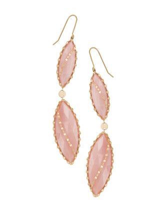 14k Mega Marquise Blush Earrings