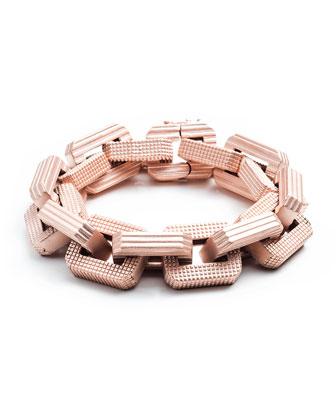Matte Rose Gold Plated Supra Link Bracelet