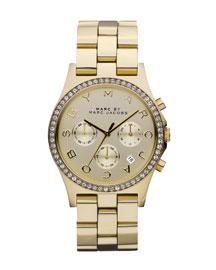 40mm Henry Chronograph Watch, Yellow Golden