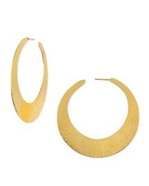 Epure 24k Gold-Plated Flat Hoop Earrings