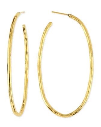 Epure 24k Gold-Plated Simple Tube Hoop Earrings