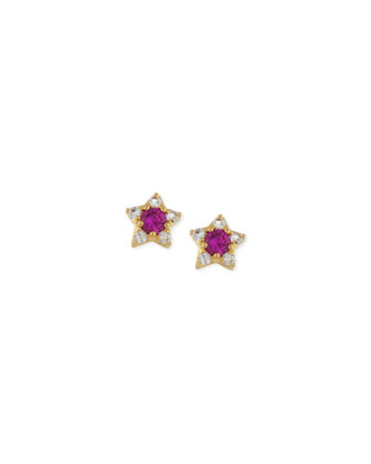 Bassa Ruby Star Stud Earrings