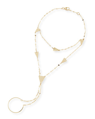 14-Karat Yellow Gold Crush Hand Chain