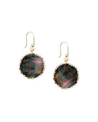 Small Mystic Black Mother-of-Pearl Earrings