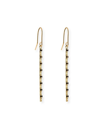 Small 14k Glam Bar Earrings