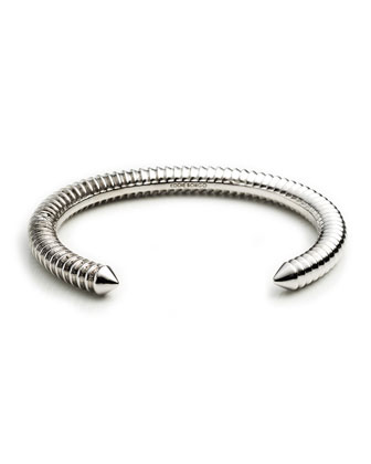 Rhodium-Plated Scaled Cuff