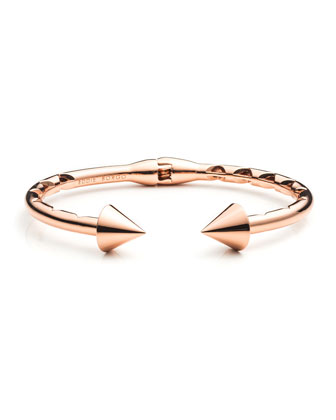 Rose Gold Plated Bi-Cone Hinged Cuff