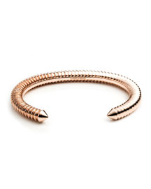 Rose Gold-Plated Scaled Cuff