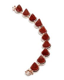 Rose Gold Plated Sandstone Cone Bracelet