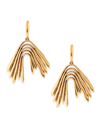 Golden Wave Drop Earrings