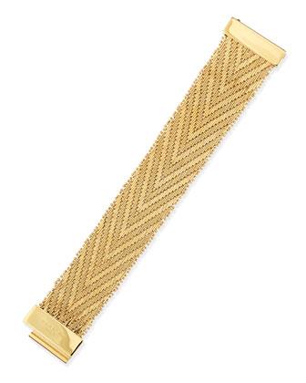 Golden Flat-Chain Bracelet