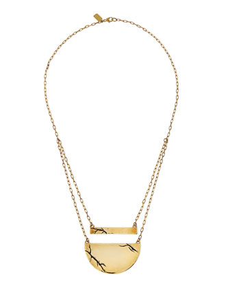 Golden Chasm Pendant Necklace