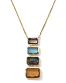 18k Gold Rock Candy Gelato Multi-Stone Necklace