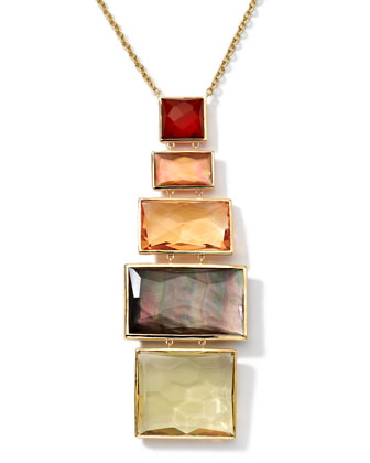 18k Gold Rock Candy Gelato Pendant Necklace